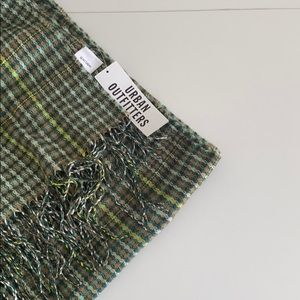 Urban outfitters plaid multi-colored scarf